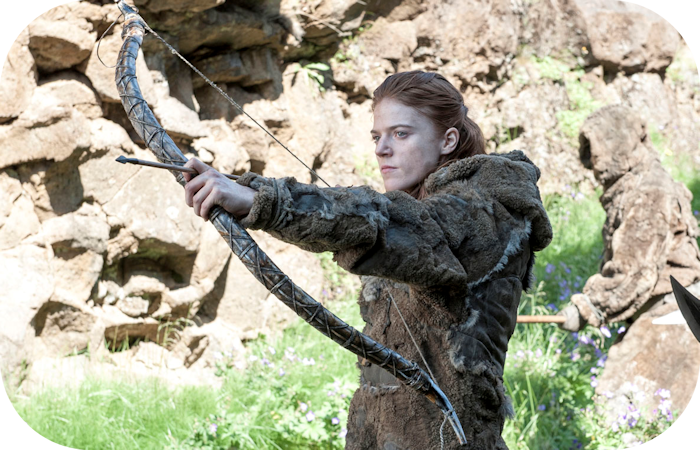 Ygritte with Recurved Replica of the Meare Heath Bow